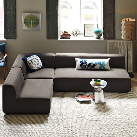 Sectional Sofa Deals Homesfeed. Large Size Of Santillo Sleeper Sofa West Elm Armless Sectional : west elm armless sectional - Sectionals, Sofas & Couches