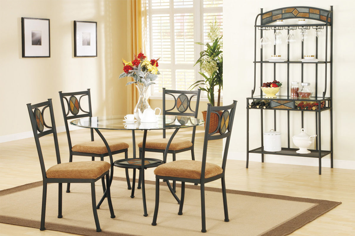 Set Of 4 Kitchen Chairs Round Kitchen Table Set For 4 A Complete Design For Small Family