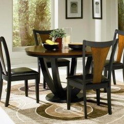 Circle Table And Chair Set Wooden High Straps Round Kitchen For 4 A Complete Design Small