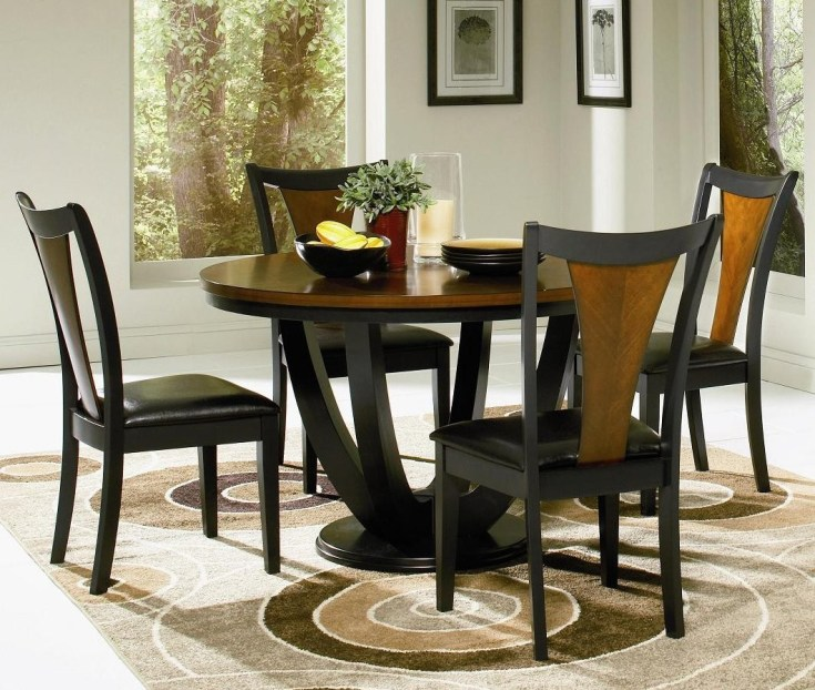 round kitchen table set for 4: a complete design for small family
