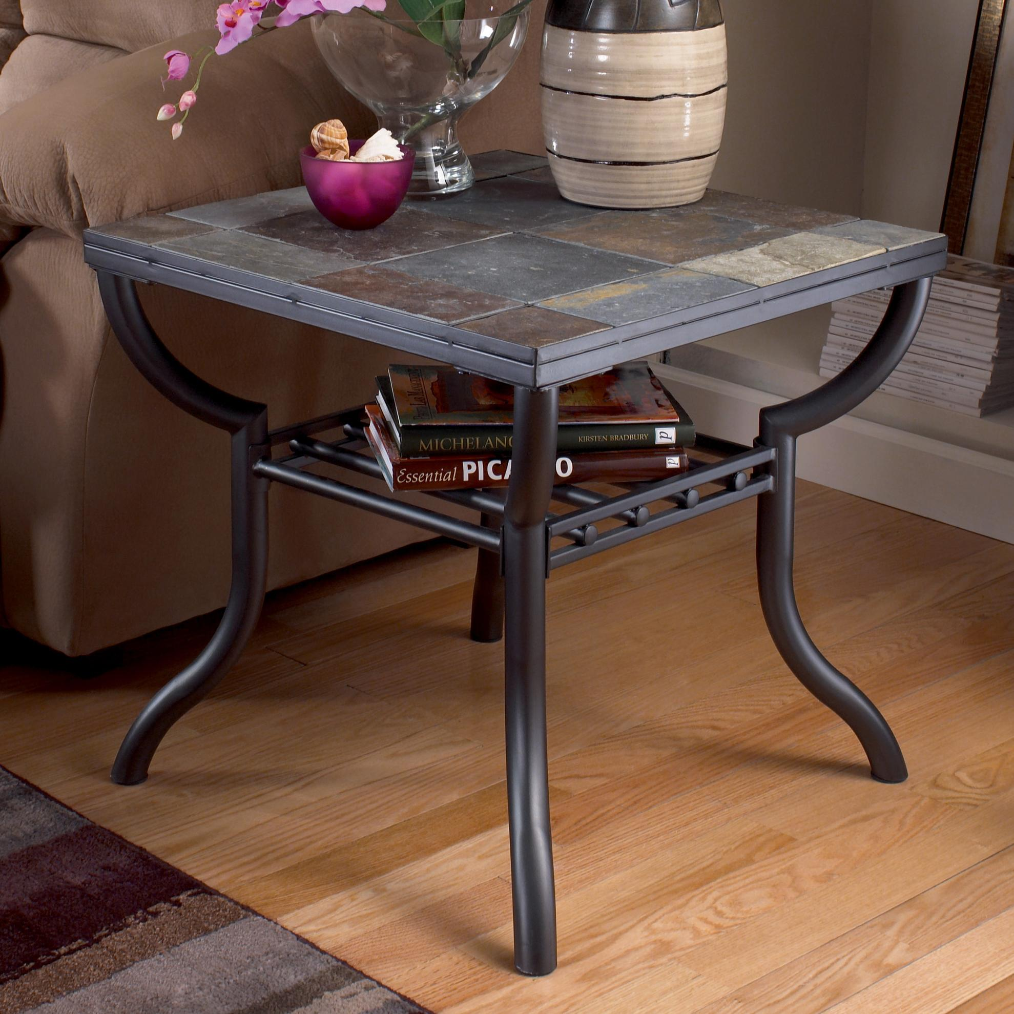Slate End Tables Showcasing Rustic Details