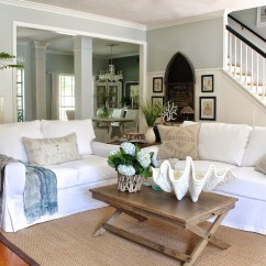 White Couch Living Room Ideas Ikea Cabinets Comfortable Slipcovered Sofa That Brings Sophistication In Awesome With Blanket And Brown Cushion Plus Solid Wooden Table