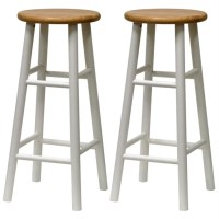White Wood Bar Stools Providing Enjoyment in Your Kitchen ...