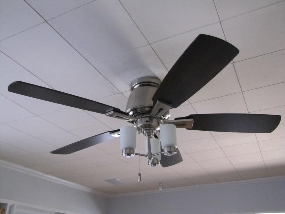medium resolution of ceiling light fan grey steel white
