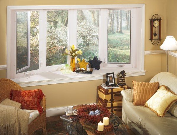 Living Room with Bay Window Decorating Ideas