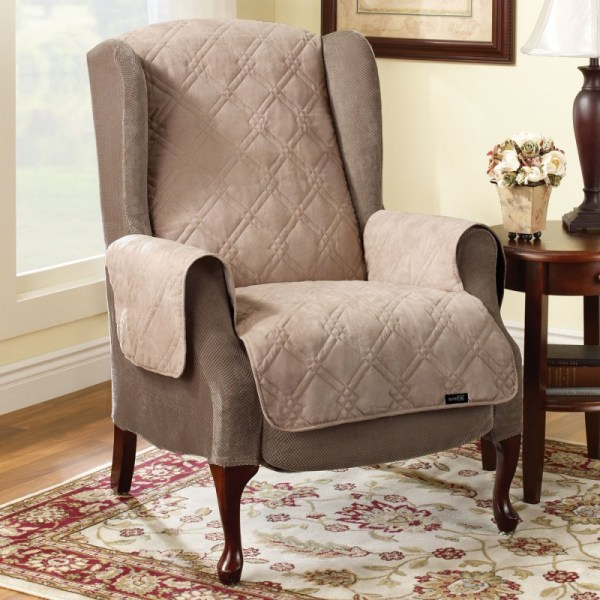 Wingback Chair Slipcover Comfortable Seating Homesfeed