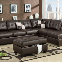 2 Piece Brown Leather Sofa Crate And Barrel Canada Sectional Admirable Sofas With Chaise Flooding Interior Dark For Modern Living Room Decorated Ottoman