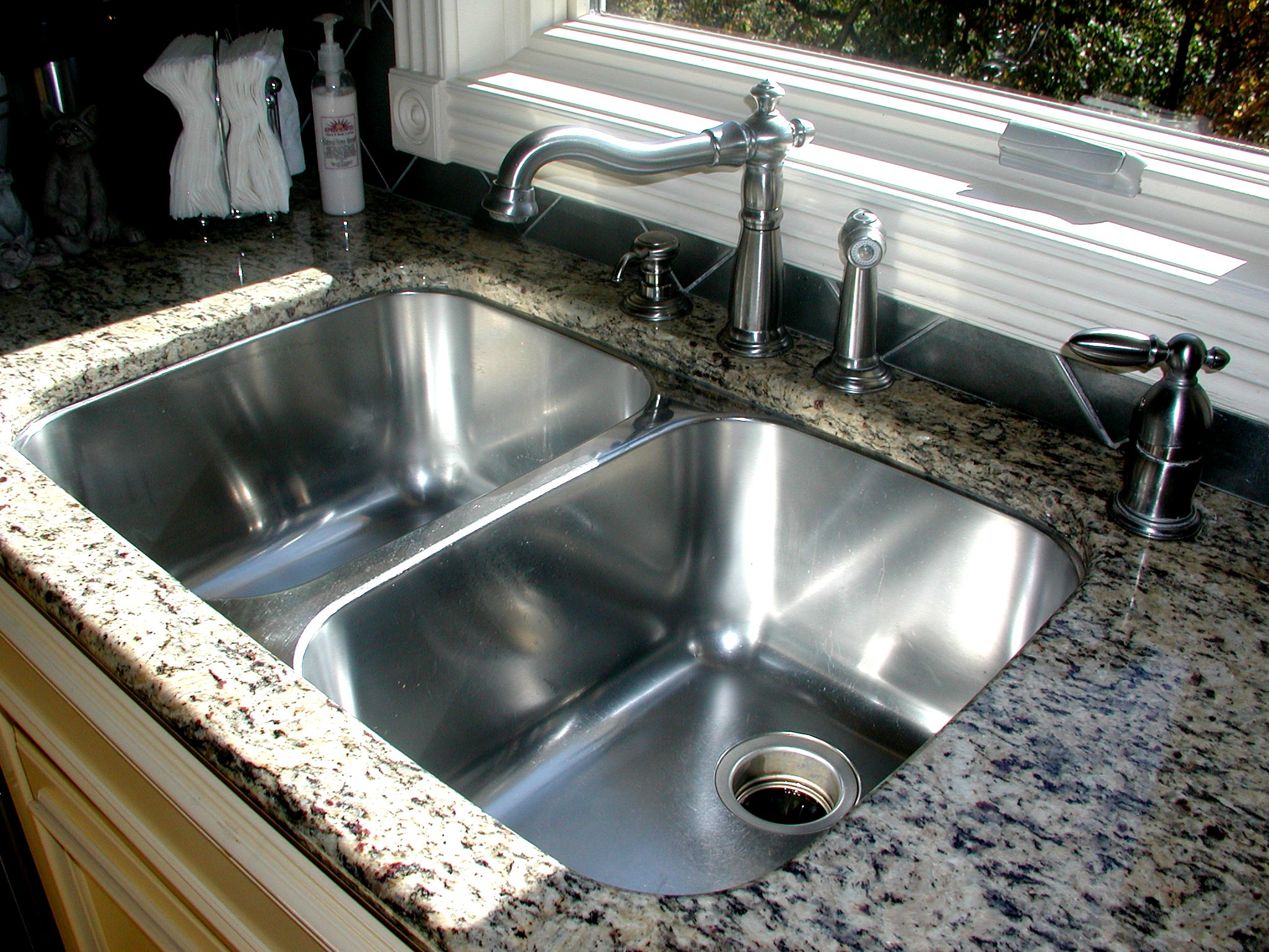 double kitchen sink pop up outlet design of homesfeed