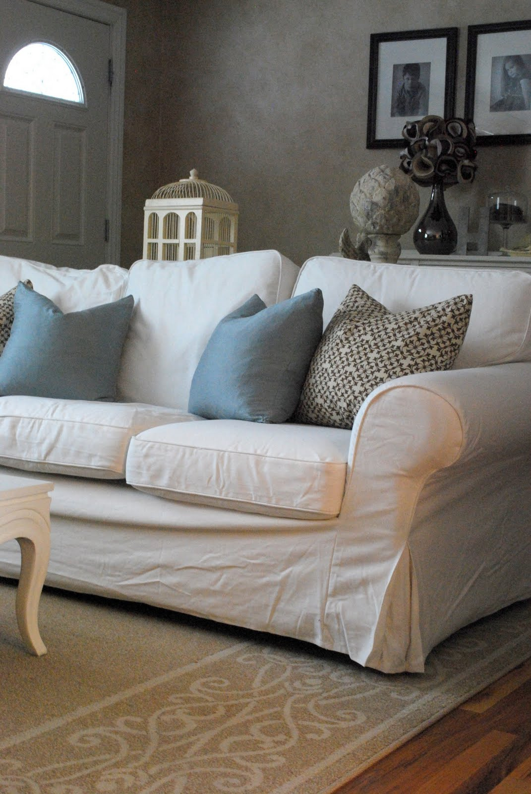 sofa and chairs silver crushed velvet bedroom chair comfortable white slipcovered that brings