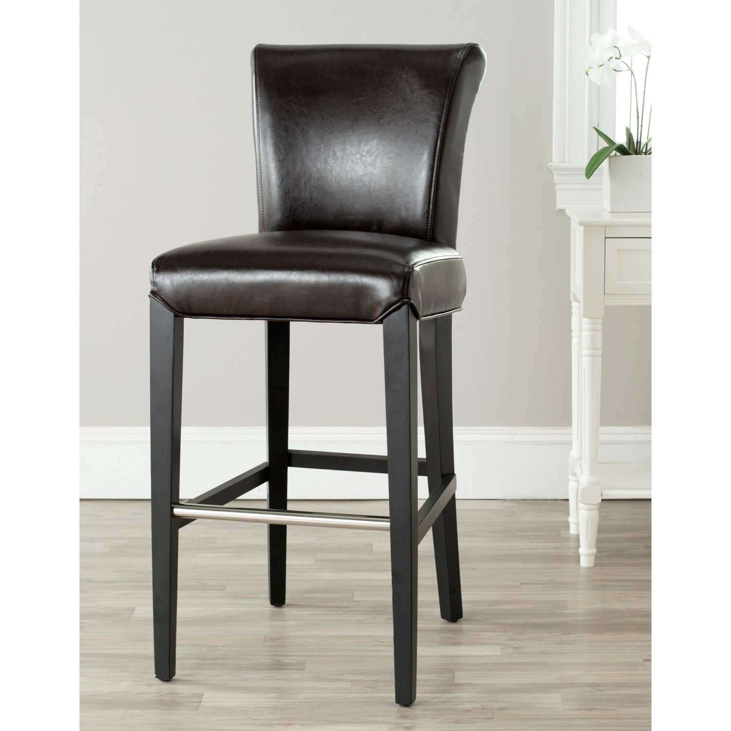Upholstered Bar Chairs Upholstered Bar Stools With Backs Homesfeed