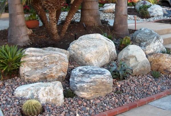 large decorative boulders gardens