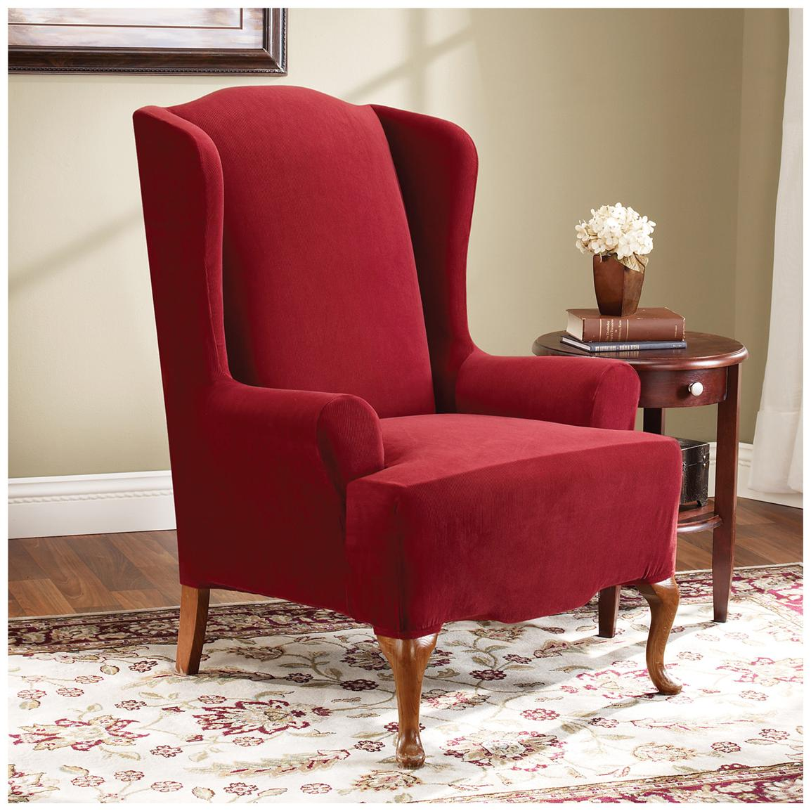 Chairs Covers Wingback Chair Slipcover For Comfortable Seating Homesfeed