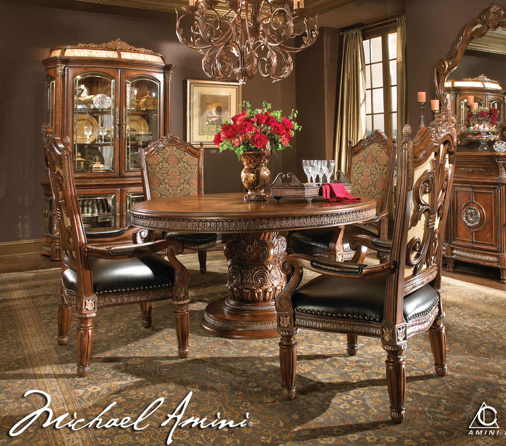 Adorable Round Dining Room Table Sets for 4