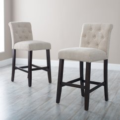 Bar Chairs With Backs Single Chair Sofa Bed For Sale Upholstered Stools Homesfeed