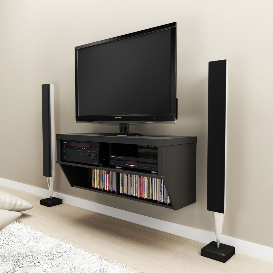 Flat Screen TV Wall Cabinets Offering SpaceSaving