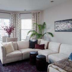 Grey Sectional Living Room Ideas Carpet Decorating Adorn Your Interior With White Patterned Curtains | Homesfeed