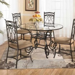 Glass Top Kitchen Table Ikea Countertops Wrought Iron Tables Displaying Attractive Furniture Ideas Pretty Round With In Dining Space And Cozy Seating Plus