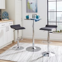 4 Contemporary Backless Counter Height Bar Stools for ...