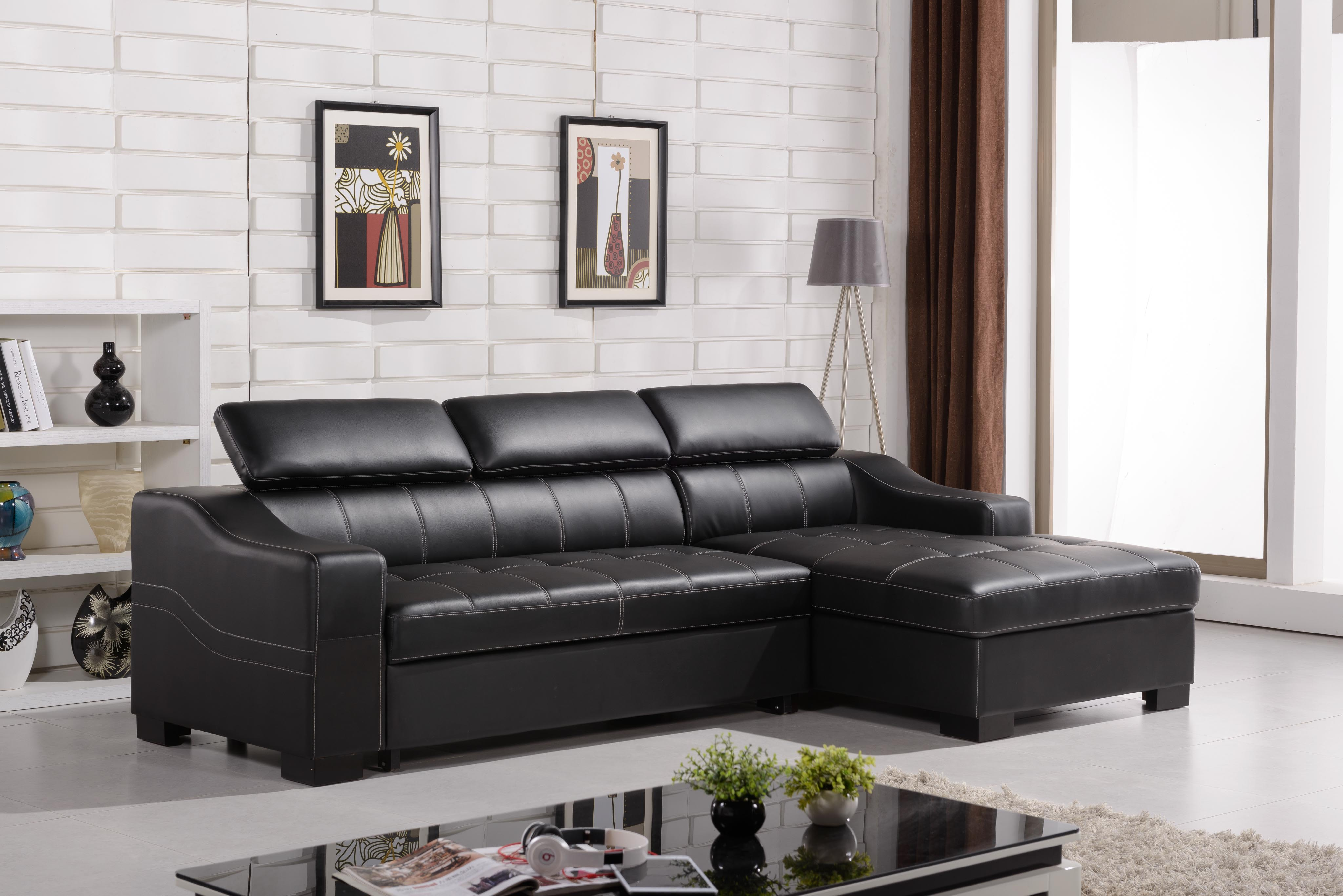 sleeper sofa chaise sectional cars toys r us modern sofas that turn into beds | homesfeed