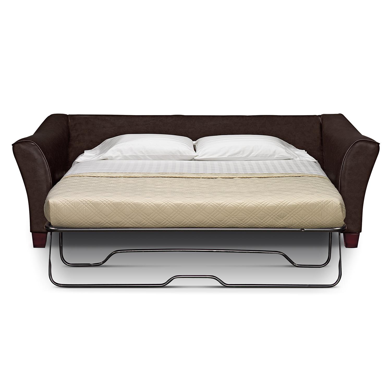 rh lancaster leather sofa brown microsuede restoration hardware sleeper 96 original ...