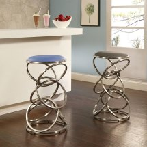 4 Contemporary Backless Counter Height Bar Stools