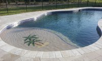 Falling in Love with Travertine Pavers Pool Deck | HomesFeed