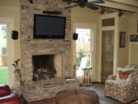 Family Living Room Stone Fireplace Ideas | HomesFeed