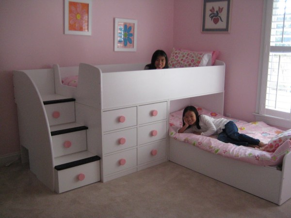Picture of Twin Girls Bedroom Bunk Bed for Kids