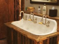 How to Style Bathroom with One Sink Two Faucets Design ...