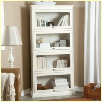 White Bookcase with Glass Door for Elgant Interior with ...