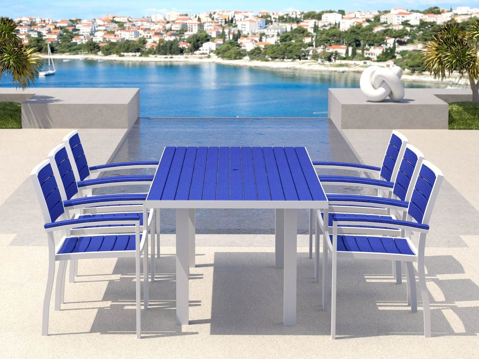 Pool Deck Chairs Be Earth Friendly With Outdoor Recycled Milk Jug Furniture