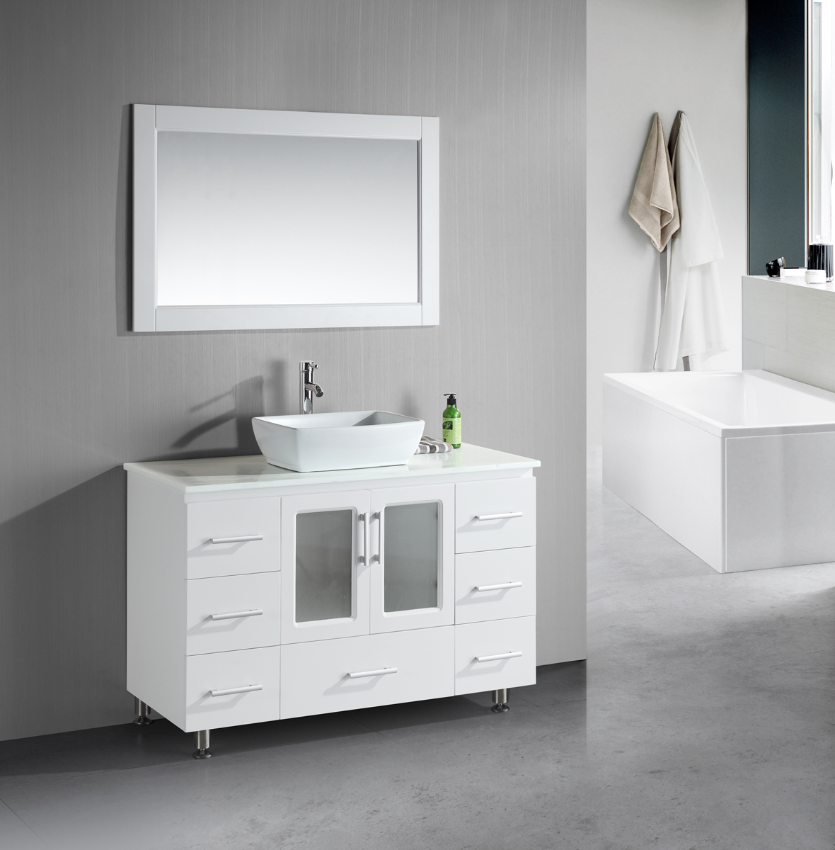 White Bathroom Vanity Ideas Small Bathroom Vanities With Vessel Sinks To Create Cool