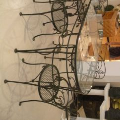 Wrought Iron Kitchen Sets Door Knobs And Pulls Tables Displaying Attractive