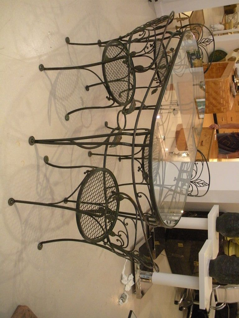 wrought iron kitchen table vintage sink tables displaying attractive