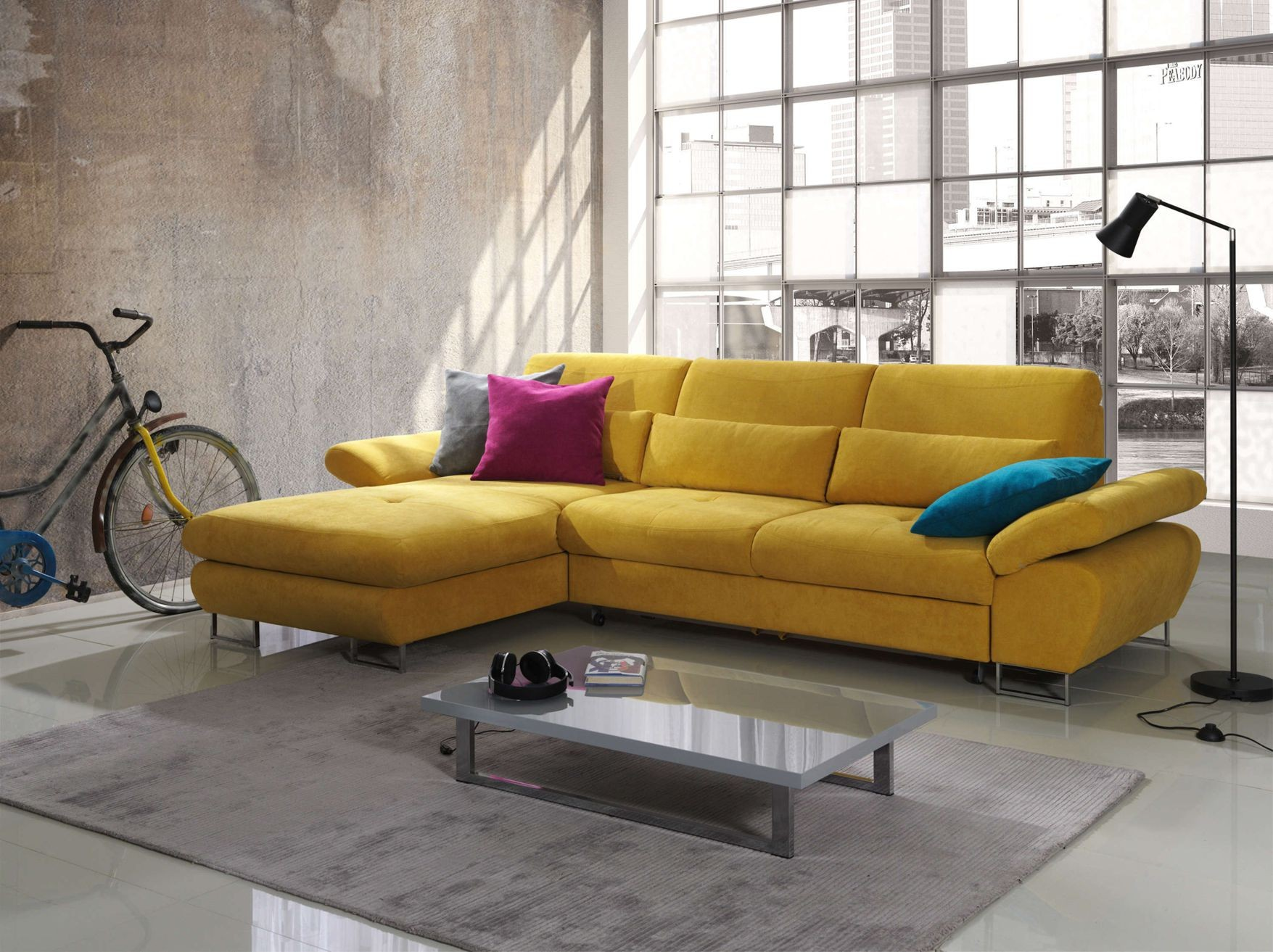 Yellow Living Room Chair Yellow Leather Living Room Furniture