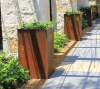 Corten Steel Planters | HomesFeed
