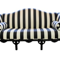Stripe Sofa Colored Leather Sofas Black And White Striped Couch Homesfeed