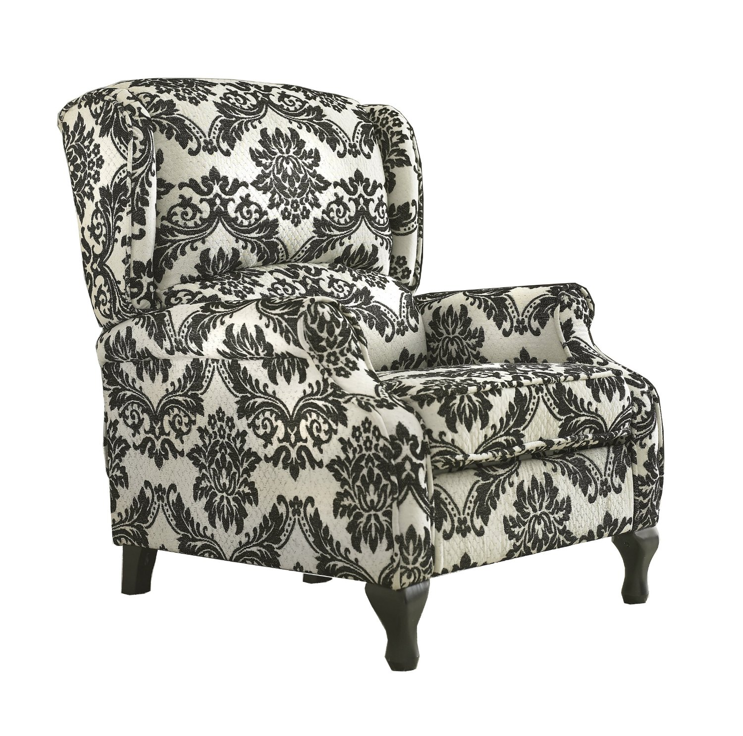 black and white paisley chair best desk for sciatica damask accent ideas homesfeed