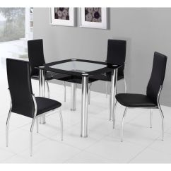 Steel Chair Specification Faux Leather Dining Chairs Square Table For 4 Homesfeed