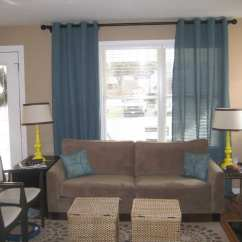 Living Room Curtain Ideas For Small Windows 5x7 Area Rug In Ceiling Mount Rod | Homesfeed