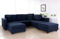 Blue Sectional Sofa With Chaise Sofa Light Blue Sectional ...