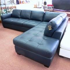 Blue Leather Sofas Italianos Madrid Navy Sectional Sofa Design Options Homesfeed