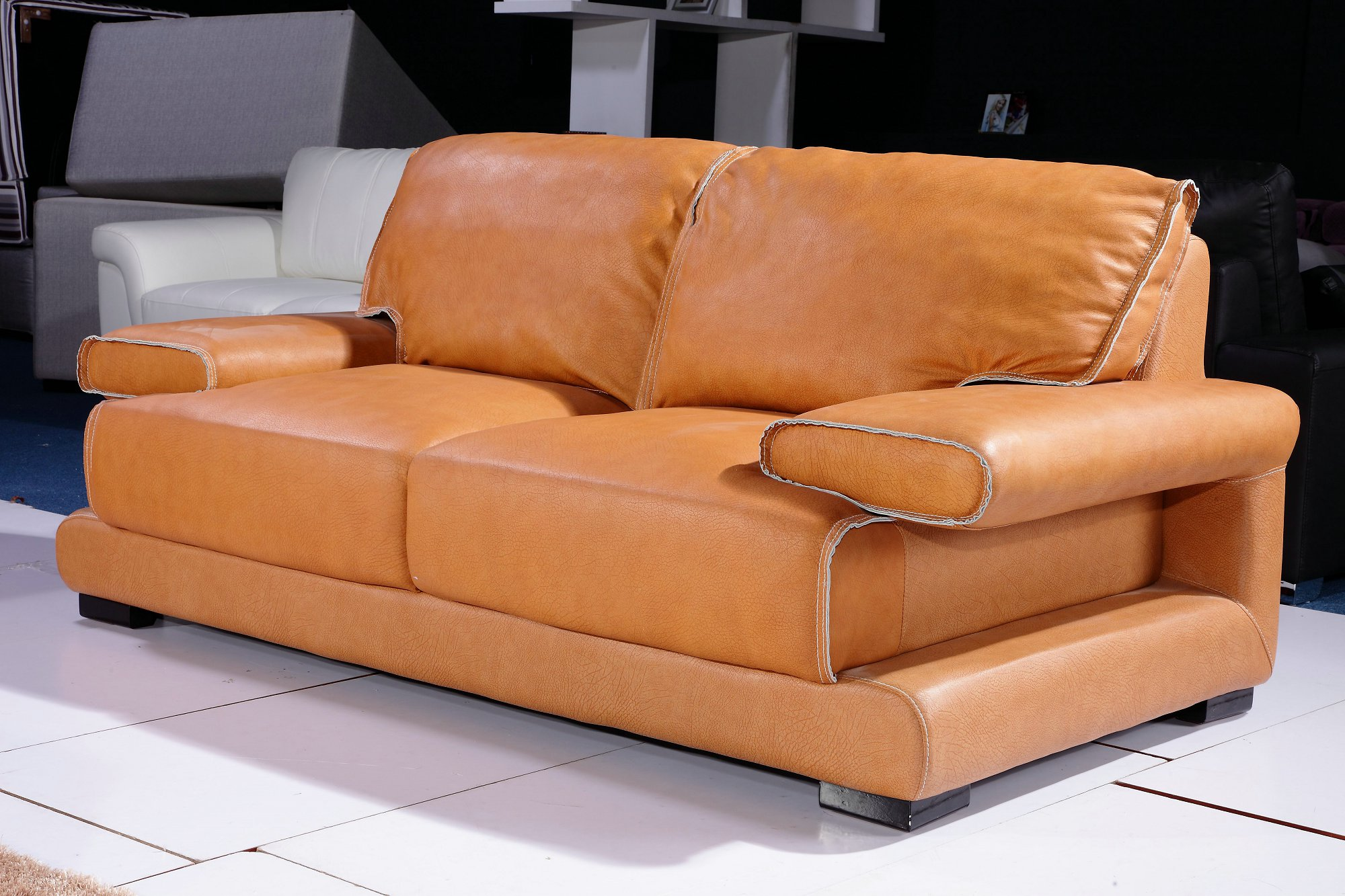 Orange Leather Chair Orange Leather Couch Furniture Homesfeed
