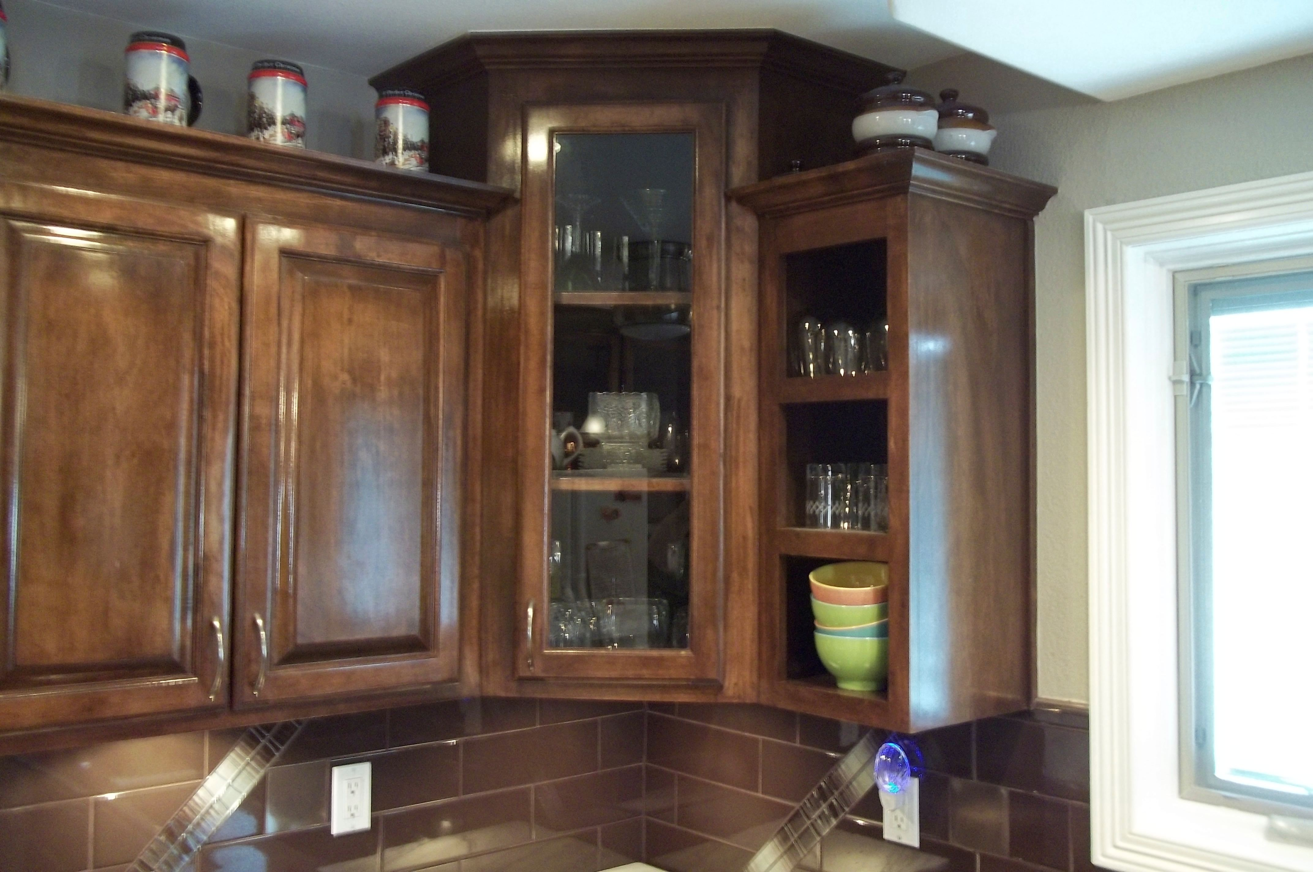 glass for kitchen cabinets gray tile corner cabinet