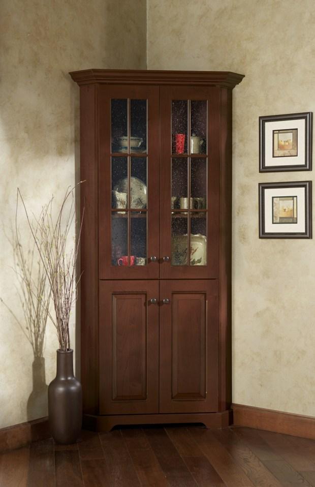 Corner Cabinet With Glass Doors Home Design Ideas