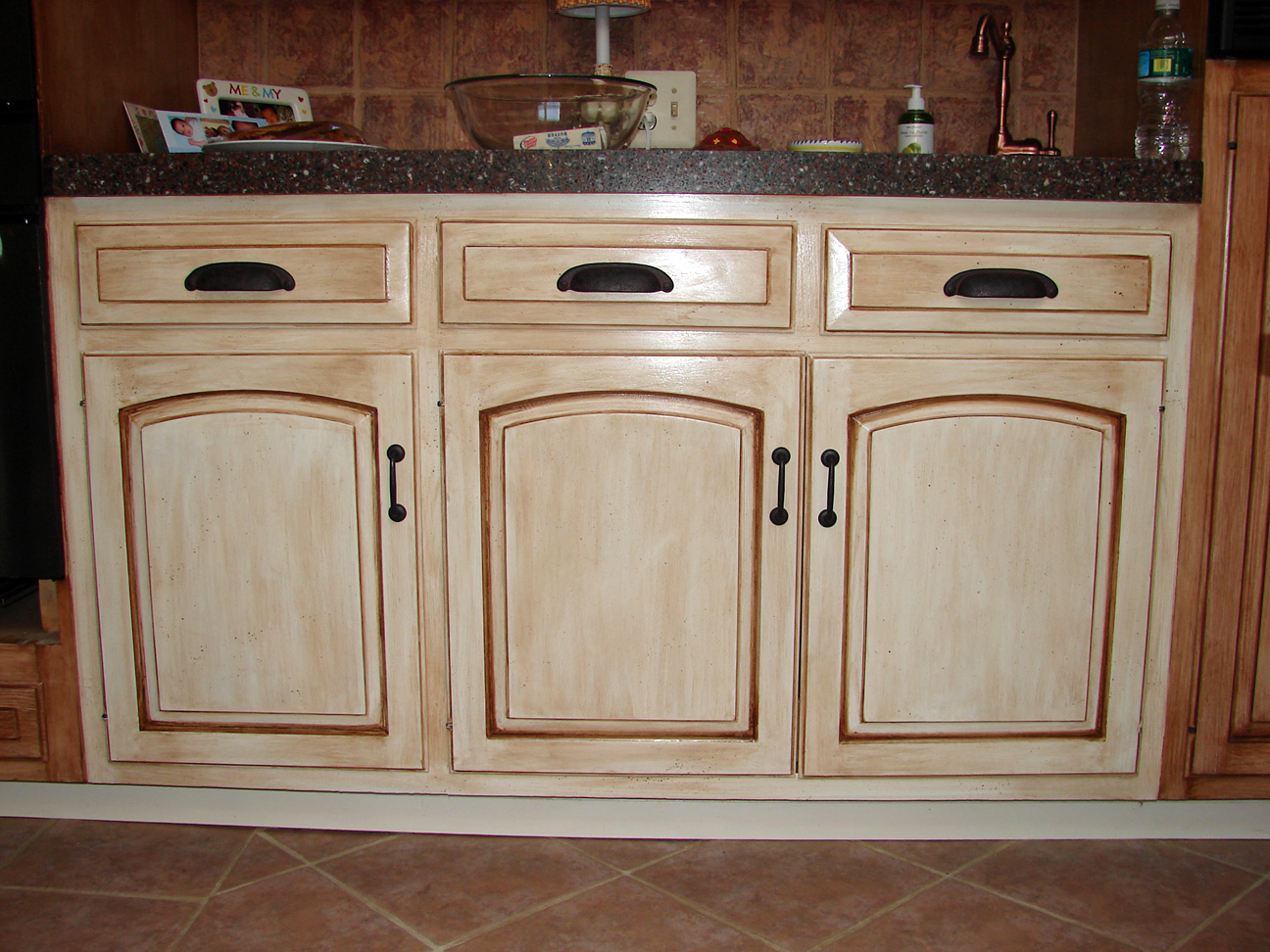white distressed kitchen cabinets marietta remodeling creating wood only with paint and wax