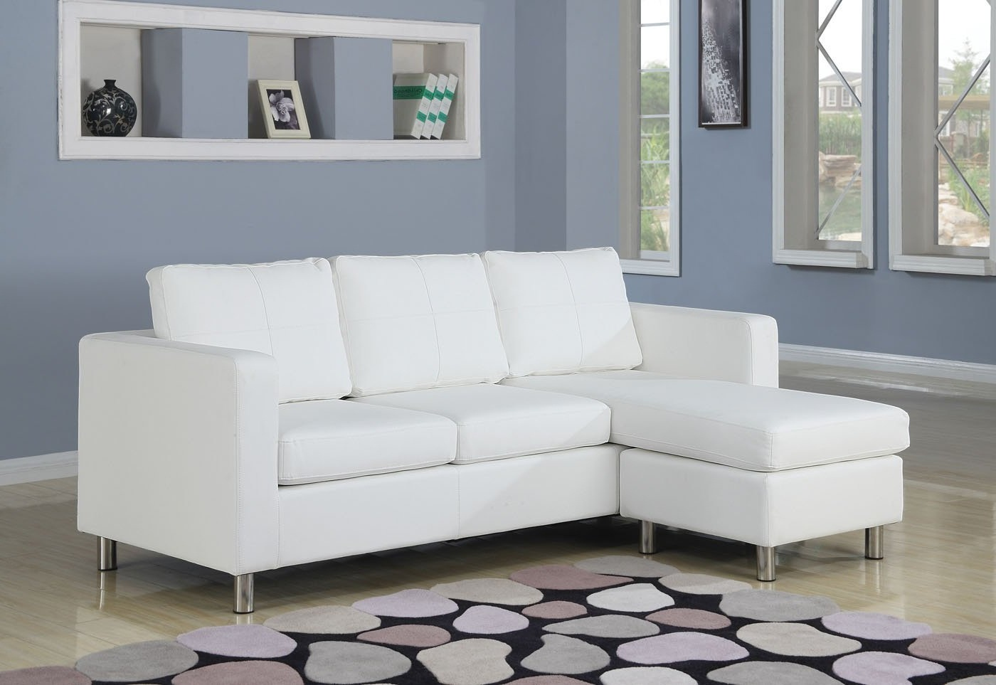 small armless sofa tyson sectional with chaise: perfect choice for a ...