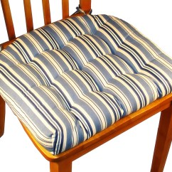 Chair Cushions For Kitchen Chairs Striped Parsons With Ties Homesfeed