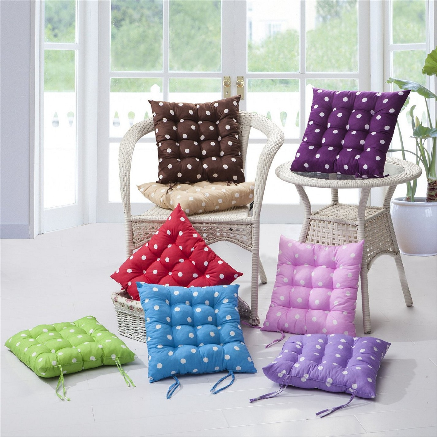 Chair Cushions For Kitchen Chairs Kitchen Chair Cushions With Ties Homesfeed