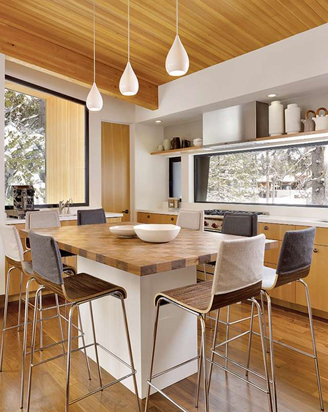 Kitchen Island Table Combination: A Practical and Double